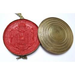 V. Ferdinánd címeres levele 1843 Nyitra