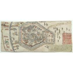 Pécs felülnézeti ostromképe 1664