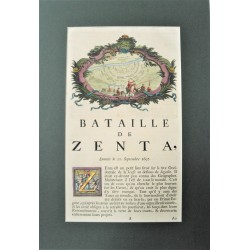 A zentai csata látképe és leírása - Dumont 1729
