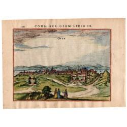 Buda látképe - P. Bertius, Amsterdam, 1616