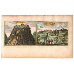 Szádvár és Szatmár látképe, 1686