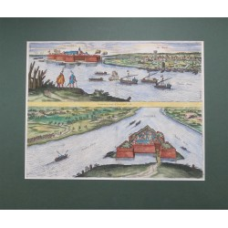 Komárom látképe 1597 Hogenberg/Houfnagel