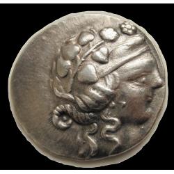 Kelta tetradrachma a görög Thasos mintájára