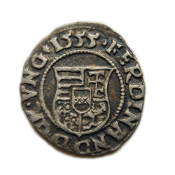 I. Ferdinánd dénár 1555 Nagybánya ÉH.745
