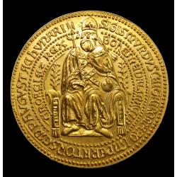 ZSIGMOND KIRÁLY BULLÁJA 1 unciás arany emlékérme RITKA
