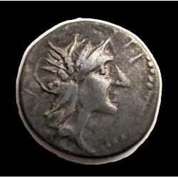 Eraviscus dénár - Lentulus/D.Silvanus