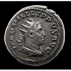 I. PHILIPPUS antoninian az 1000 éves Róma hátlap