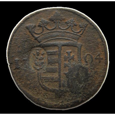 II. Rákóczi Ferenc X poltura (1704) KÉT ELLENJEGGYEL!