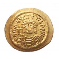 """Mauritius Tiberius solidus """"S"""" officina"""