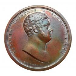 Carolus Schwarzenberg Herzog medalion 1814