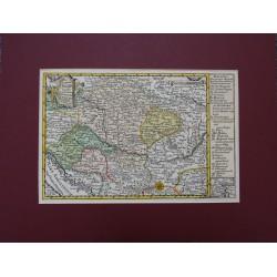 Magyarország térképe 1749. Lipcse, Schreiber