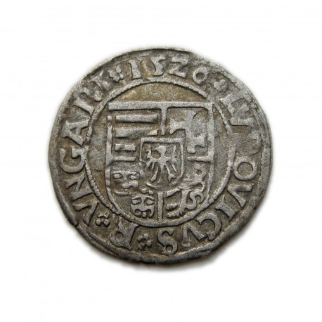 II. Lajos dénár (1526)N-G Nagybánya ÉH.673