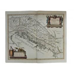 1658 Magyarország és a Balkán az ókorban rézmetszetű térkép