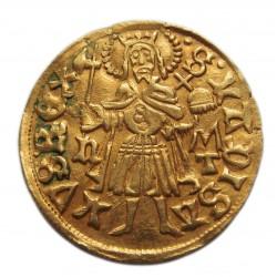 I. (Hunyadi) Mátyás aranyforint Éh.540e köriratváltozat