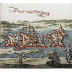 Szigetvár  látképe /1689 rézmetszet/
