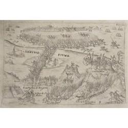 Esztergom 1595 -ös ostroma /metszet 1597