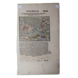 Sebastian Münster : Zsáka1566 -os ostroma /metszet 1578