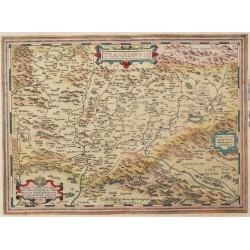 Erdély térképe 1595, Ortelius