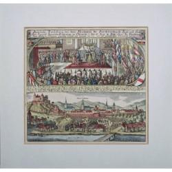 I. Lipót Magyarország királyává koronázása Pozsonyban, 1655-ben.