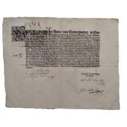 II. Ferdinánd német-római császár és magyar király pátense 1619.Júni.19 .Bécs