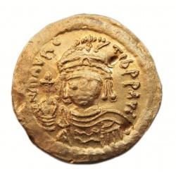 """Mauritius Tiberius solidus """"I"""" officina"""