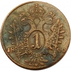 I. Ferenc 1 krajcár 1800 B